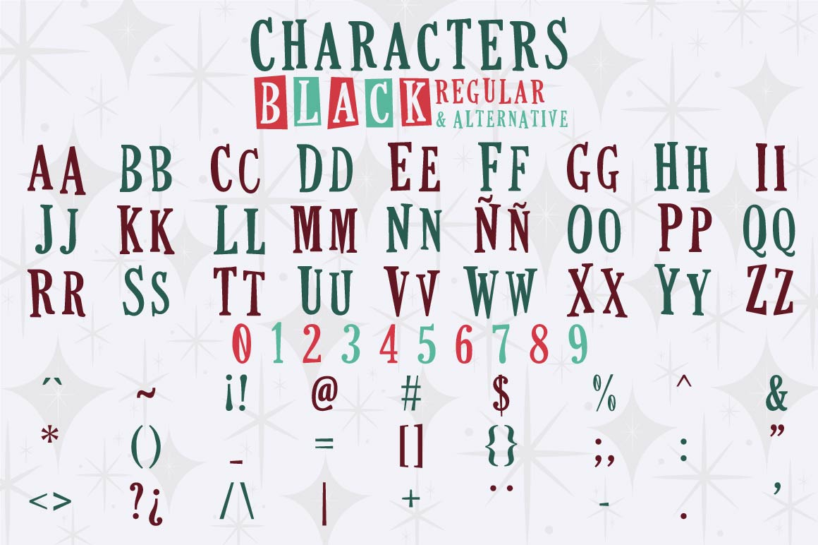 This Holiday Season - Christmas font and Extras example image 2