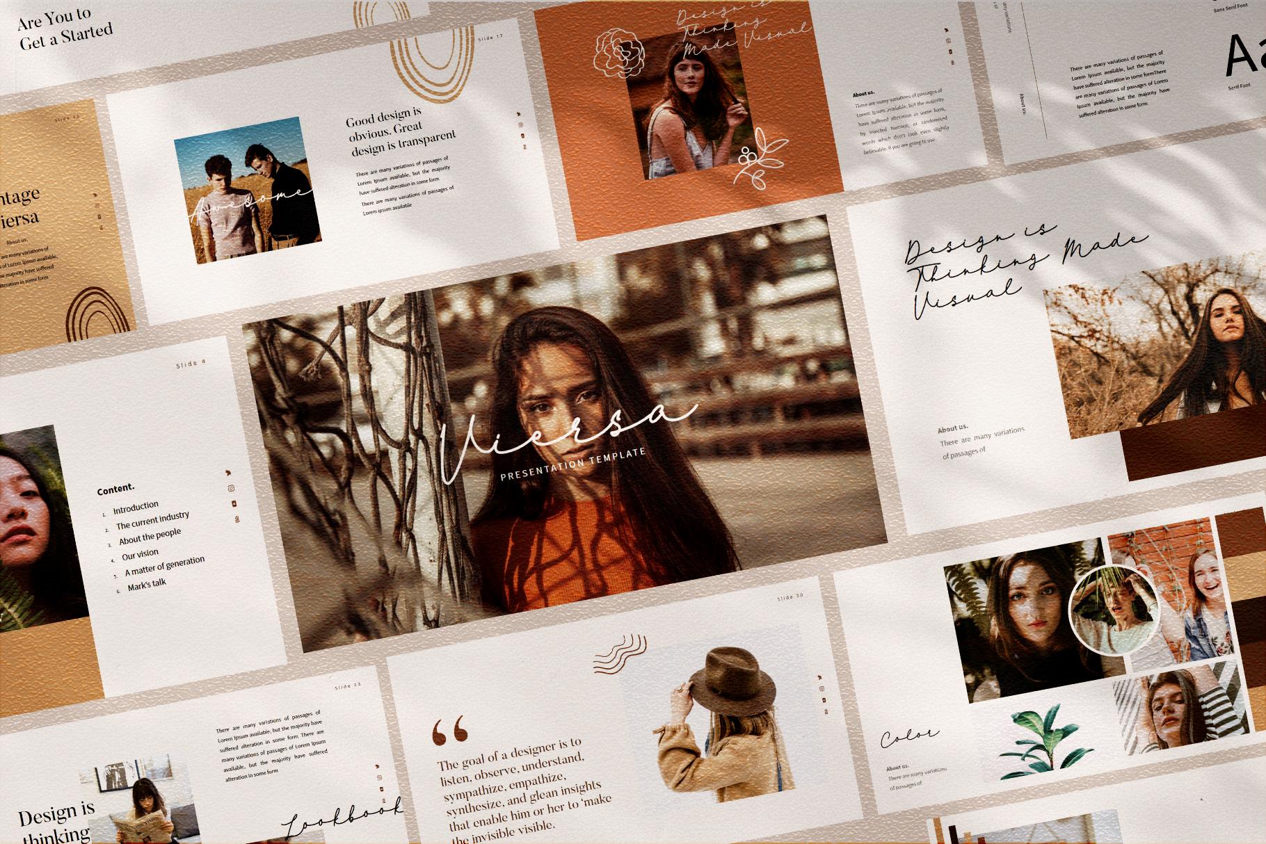VIersa Creative Presentation Template example image 2