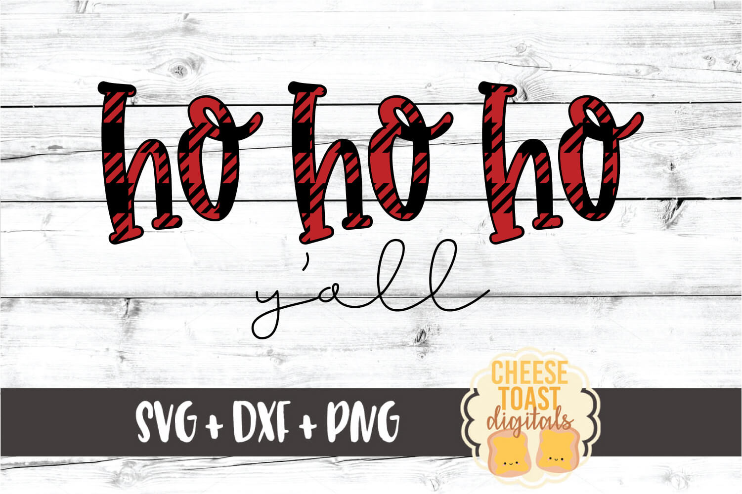 Ho Ho Ho Y'all - Christmas SVG PNG DXF Cut Files example image 2