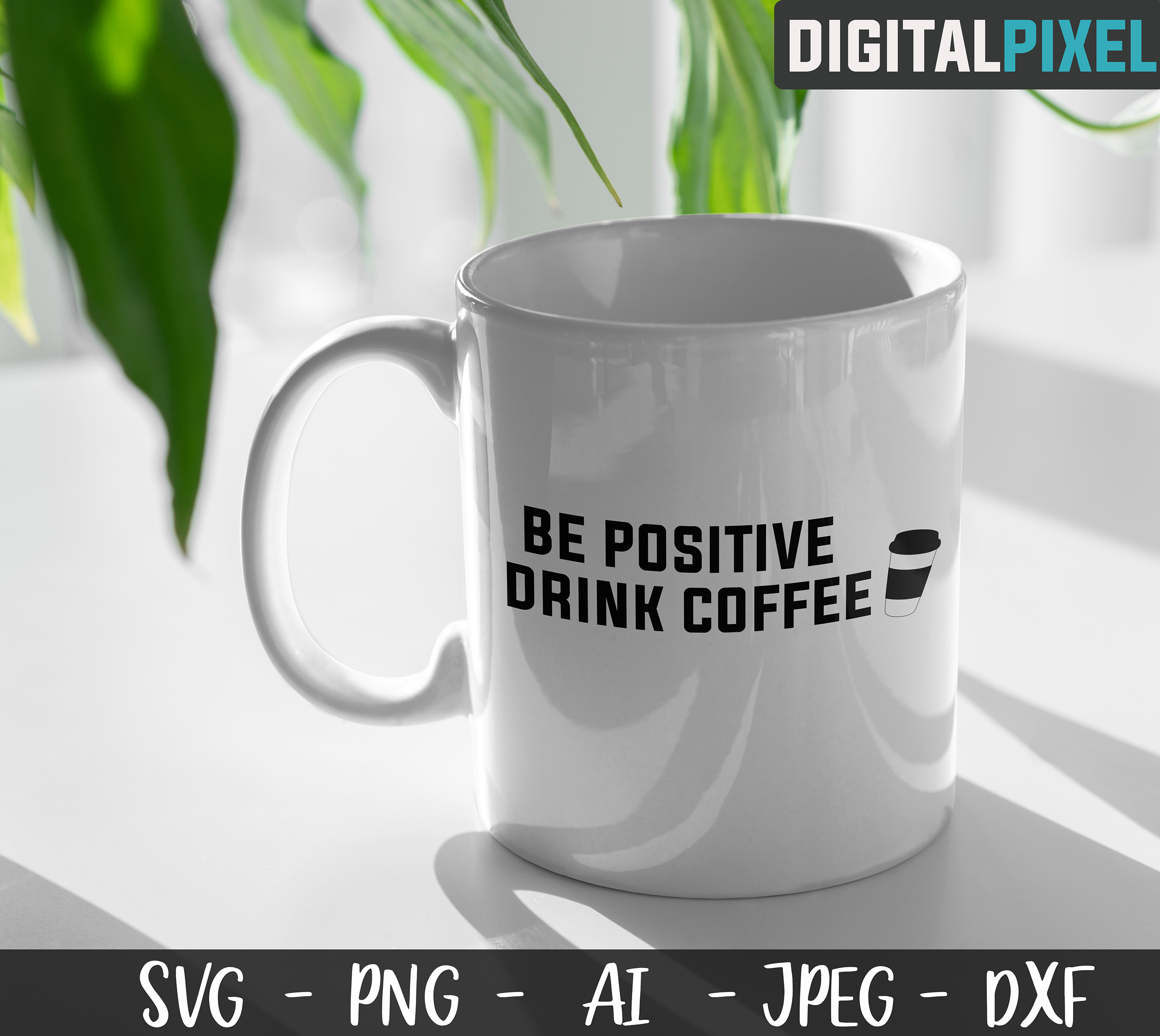 Coffee Bundle SVG PNG JPEG DXF Circut Cut Coffee Crafters example image 6