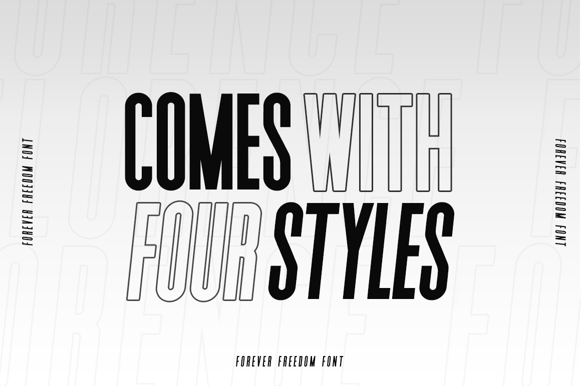Forever Freedom Font Family example image 6