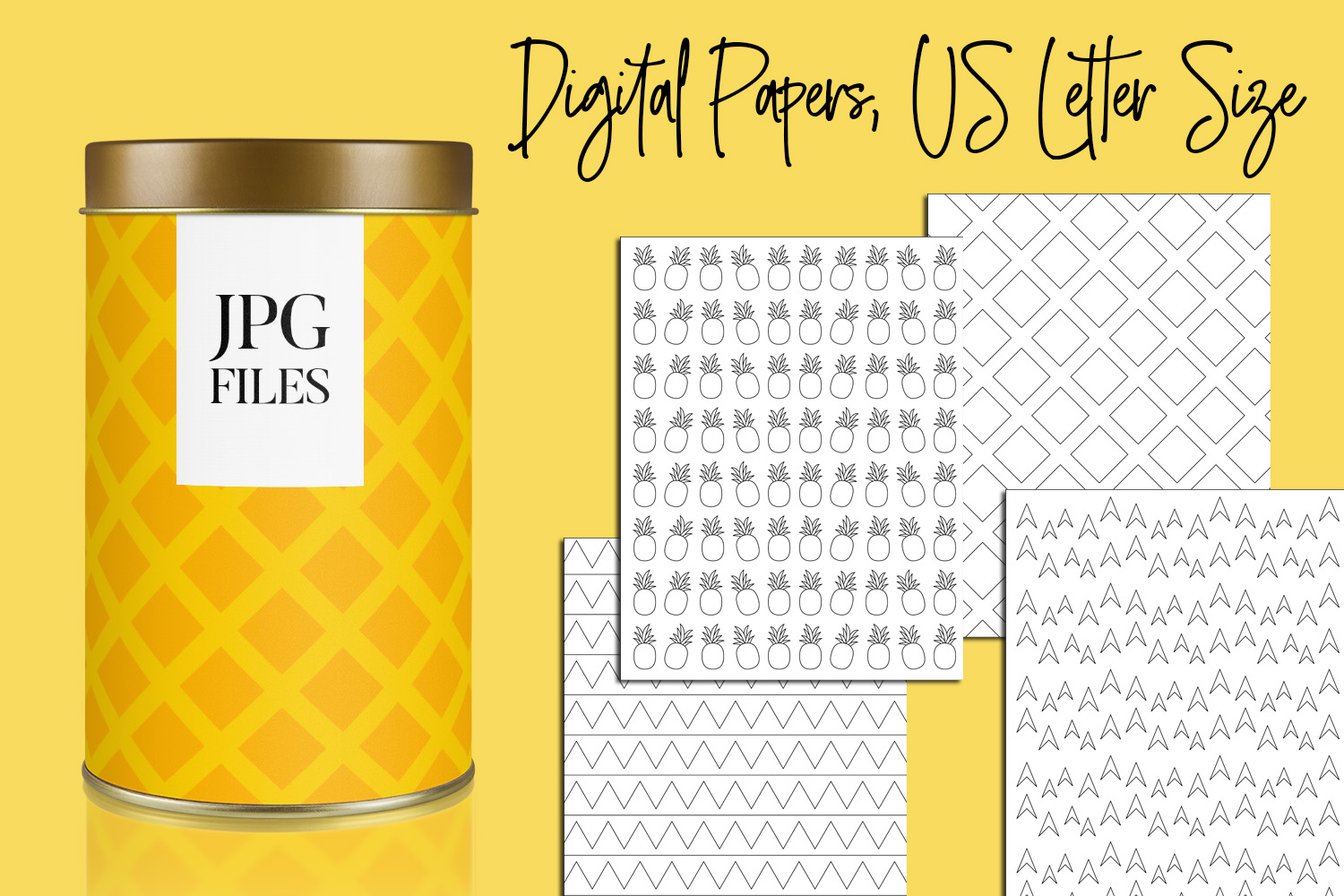 Digital Papers Bundle Vol. 2 - Background Patterns example image 26