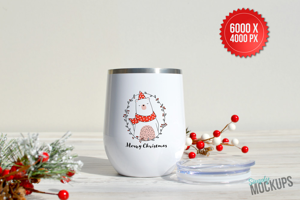 12oz Wine Cup Holiday Mockup example image 2