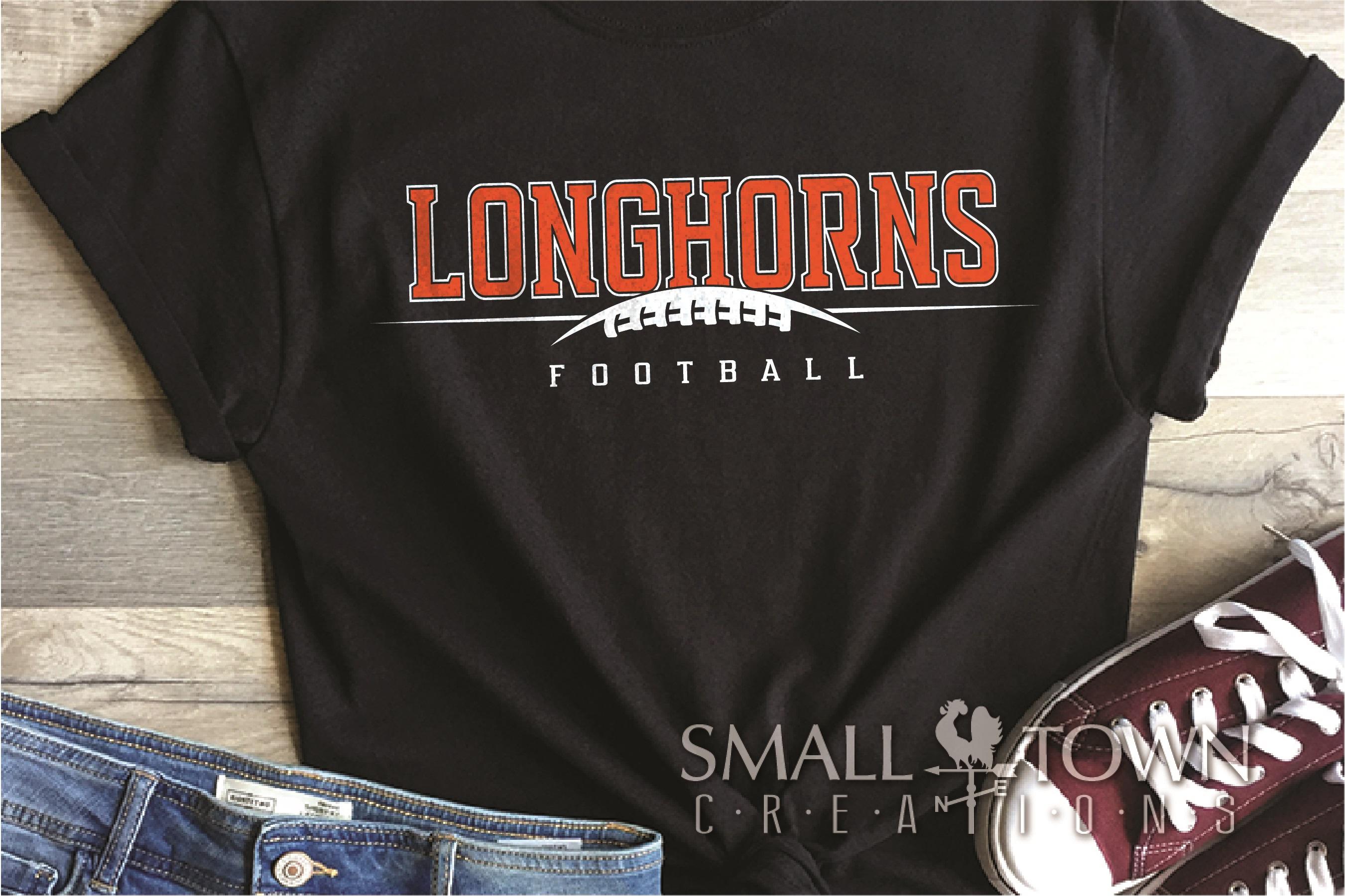 Longhorn, Football Team, Logo, Sport, PRINT, CUT & DESIGN example image 1