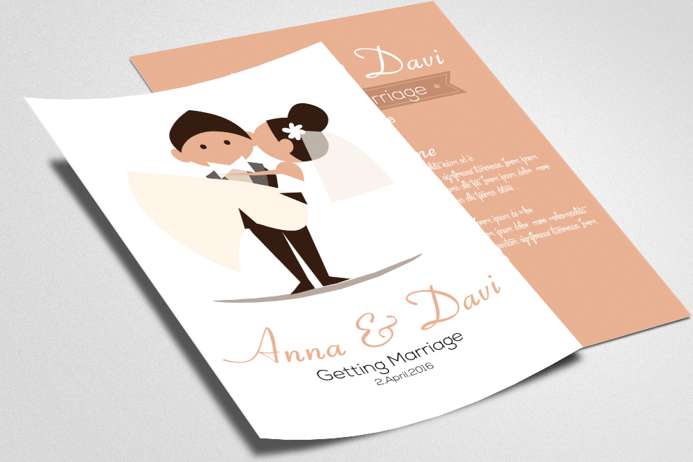 Save the Date Double sided Invitation Cards example image 2