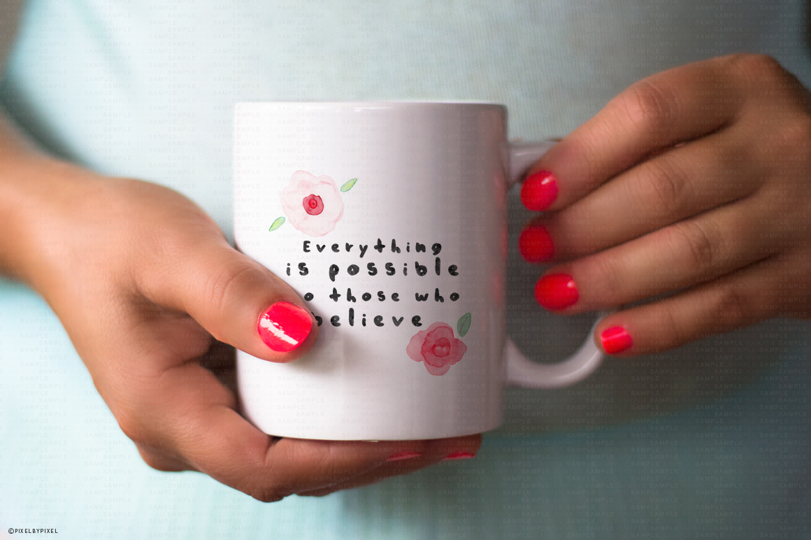 Hands Holding Mug Mockup #4 example image 2