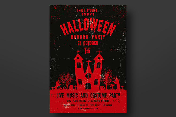Halloween Flyer Template example image 2