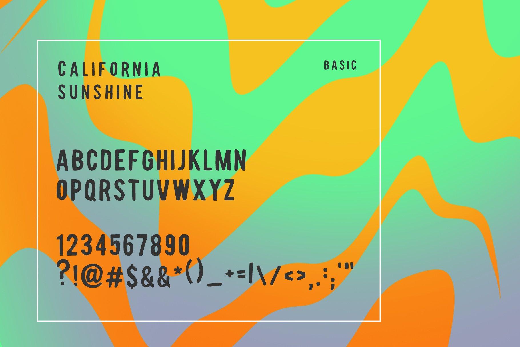 California Sunshine Typeface example image 6