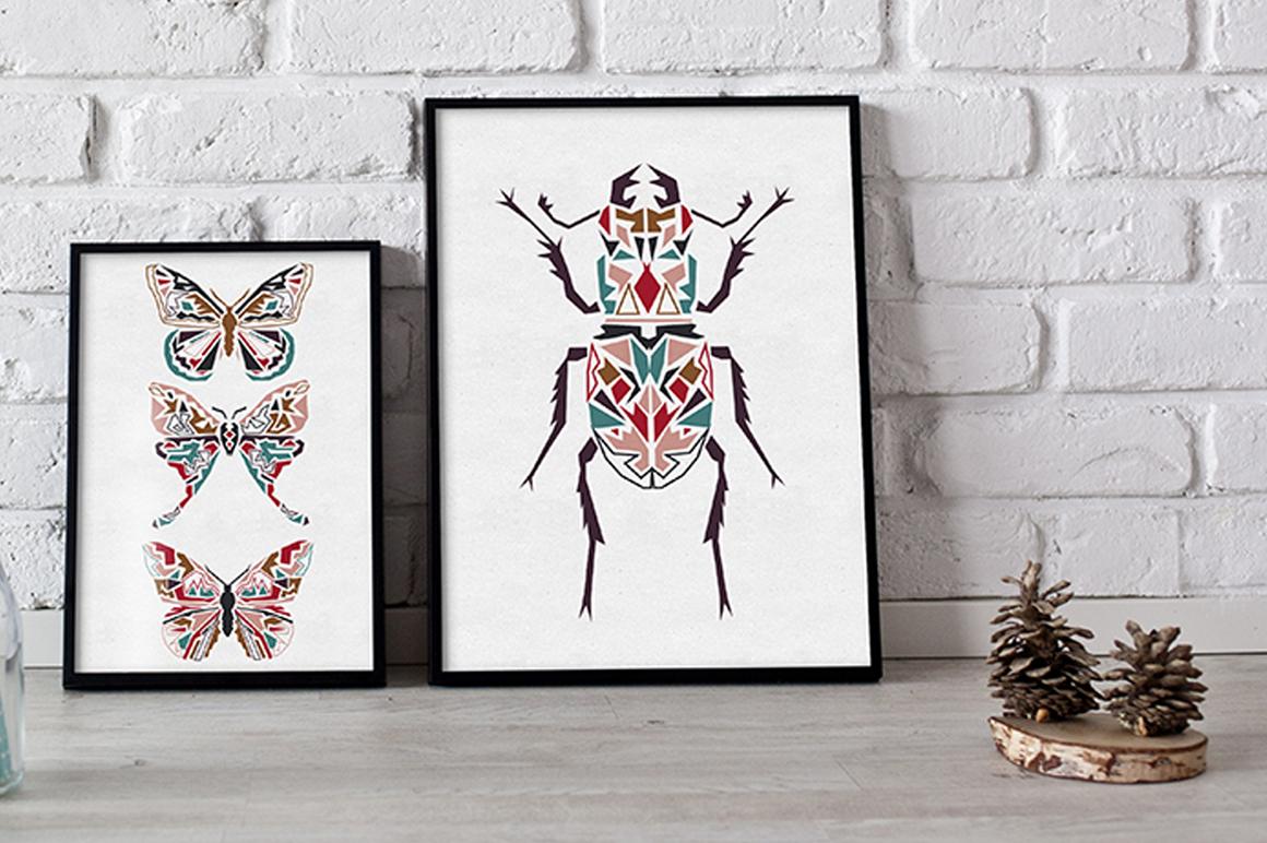 Butterflies and Beetles SVG Bundle example image 9