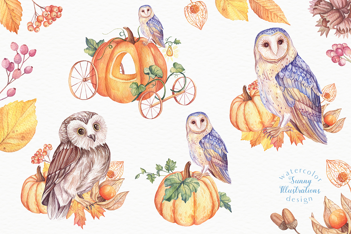 Happy Halloween - Watercolor Set example image 8