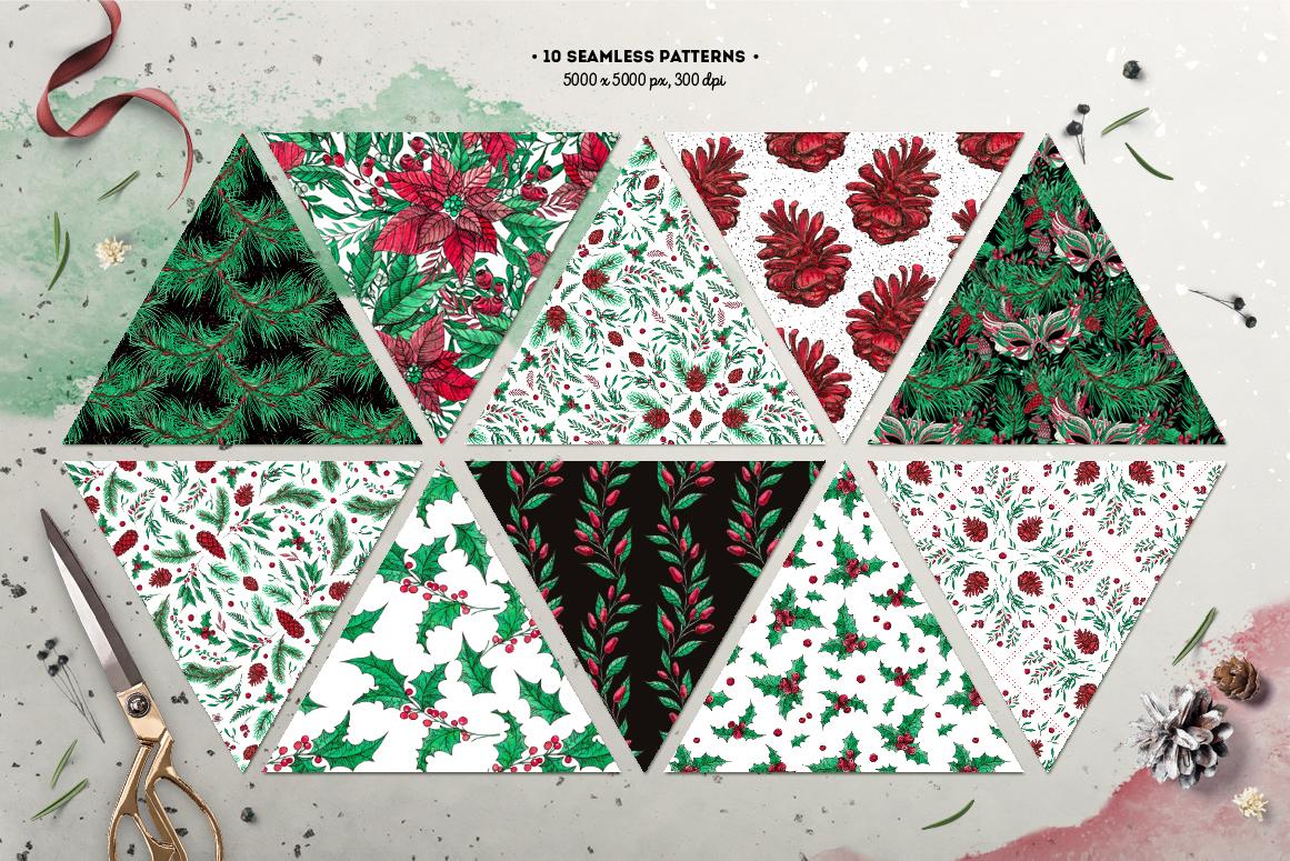 Inky Christmas Huge DIY Set example image 6