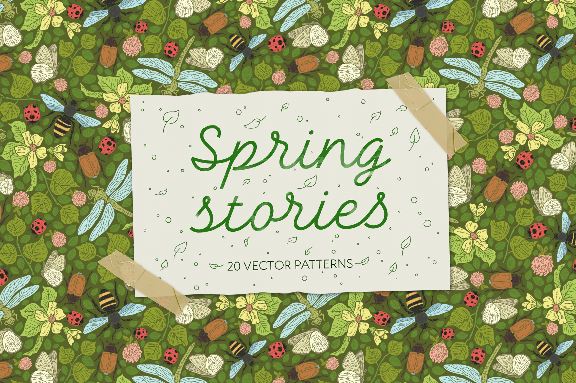 Spring Stories patterns example image 1
