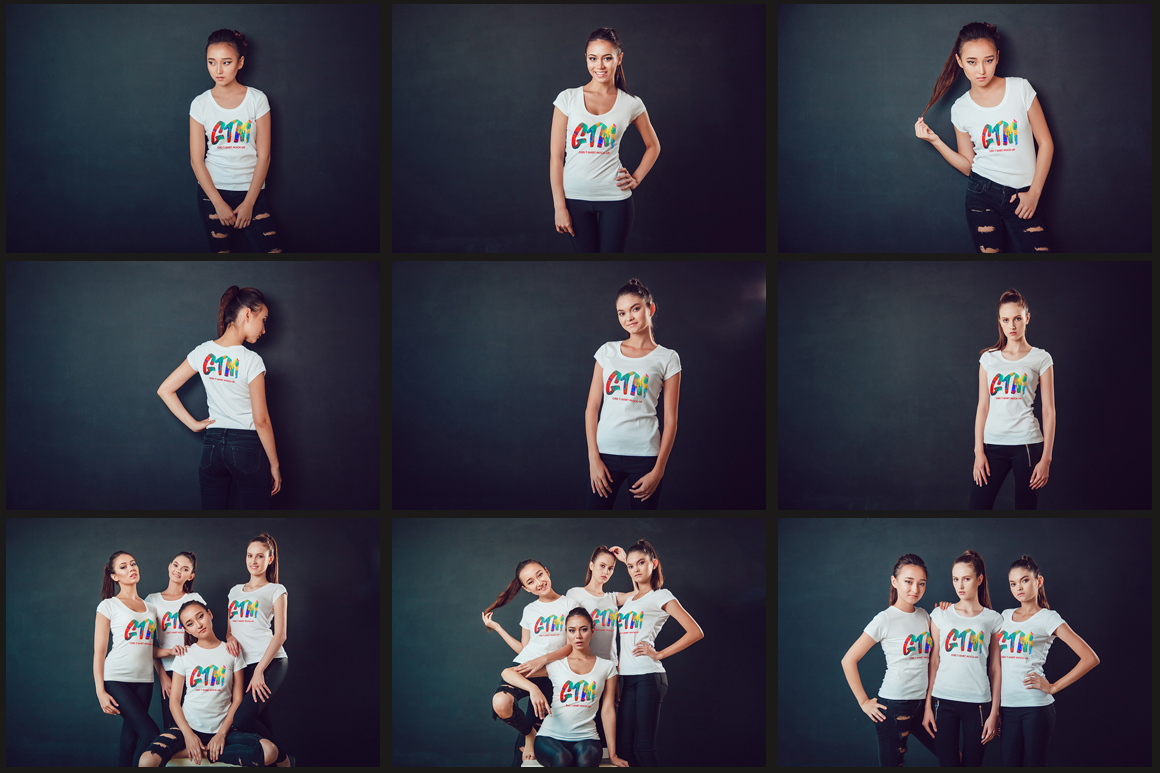 Women's T-shirts Mock-Up Vol 2 example image 8