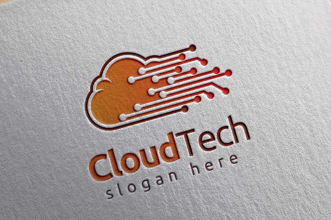 Cloud Tech Logo, Cloud Internet logo example image 4