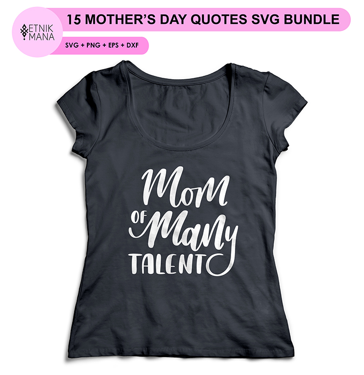 15 MOTHER'S DAY QUOTES SVG BUNDLE example image 2