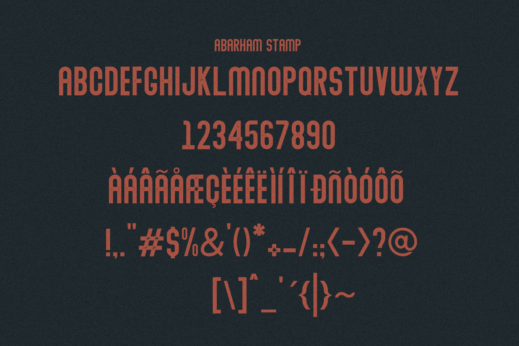 Abraham Font Family 7 Style Fonts example image 11