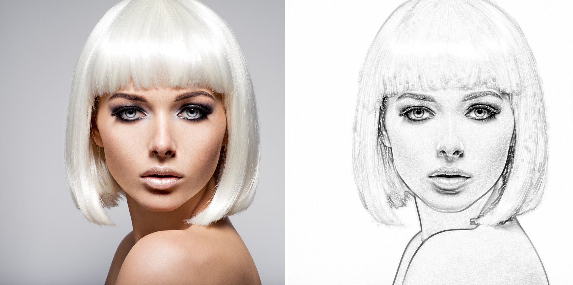 44 Sketch Photoshop Actions Collection (Action for photoshop CS5,CS6,CC) example image 2