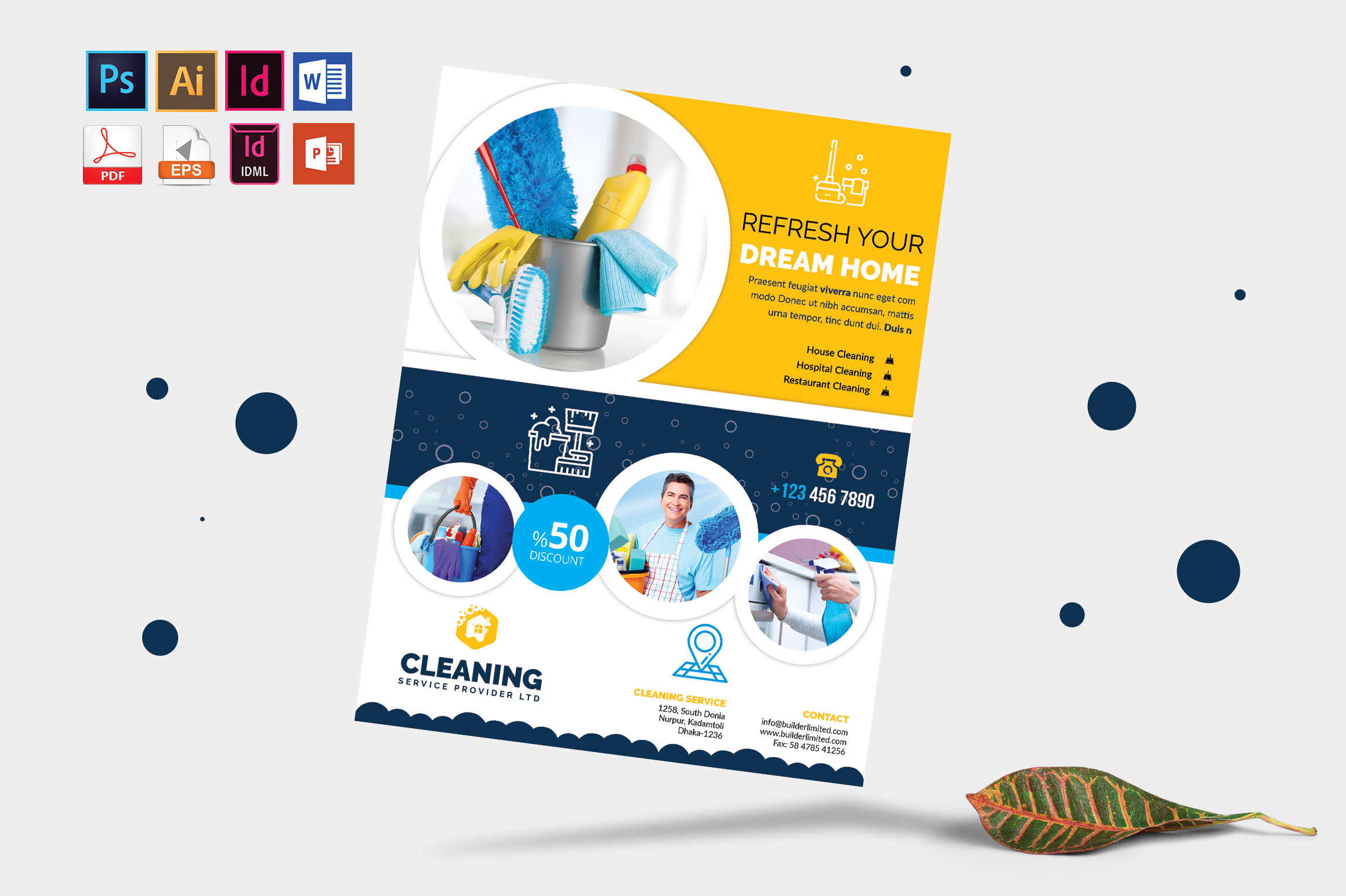 Cleaning Service Flyer Vol-09 example image 3