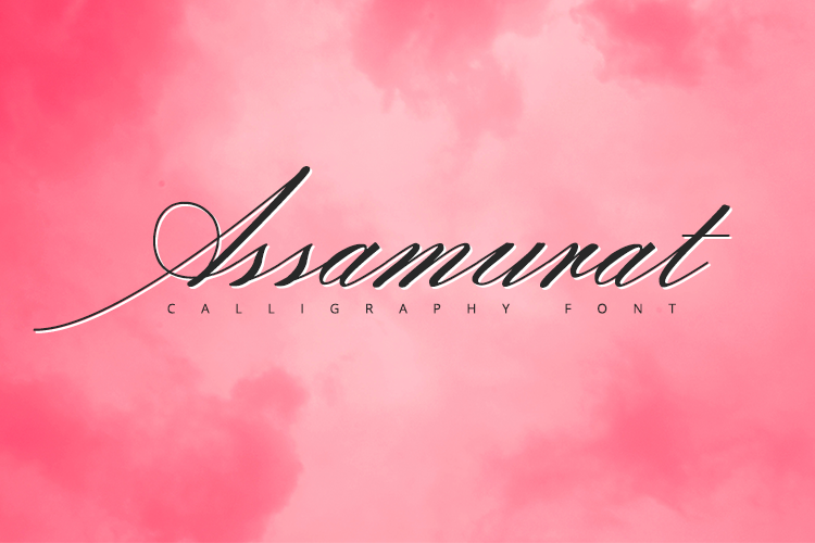 Assamurat - Calligraphy Font example image 1