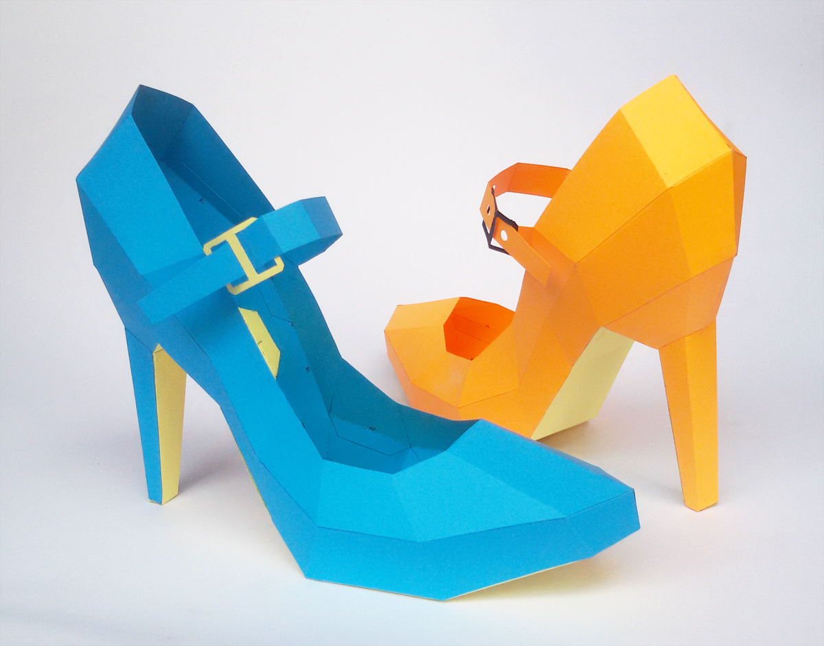 DIY High Heel Belly Model - 3d papercraft example image 1