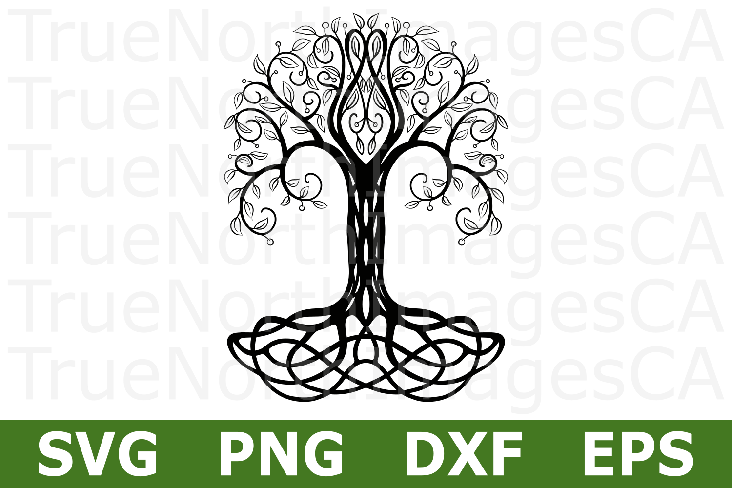 Tribal Tree - A Nature SVG Cut File example image 1