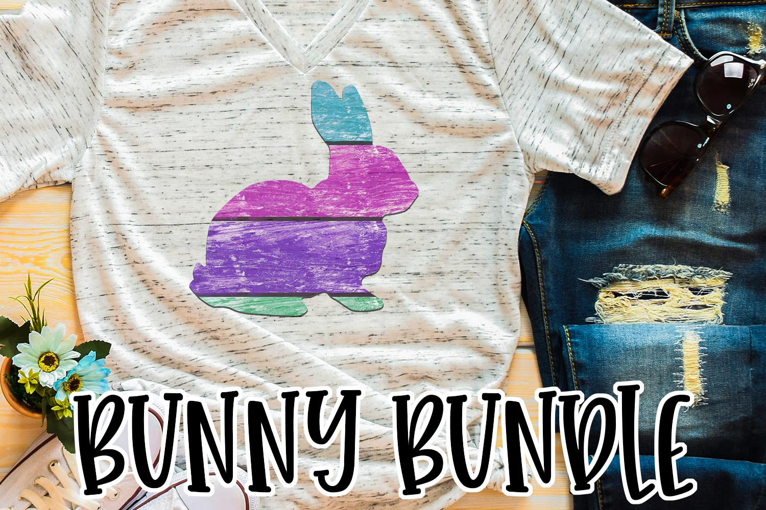 Easter Bunny Sublimation Bundle example image 2