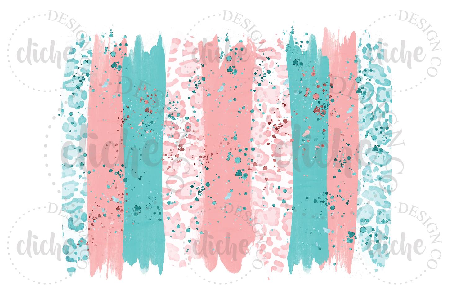 Spring Paint Stroke Sublimation Design Background example image 1