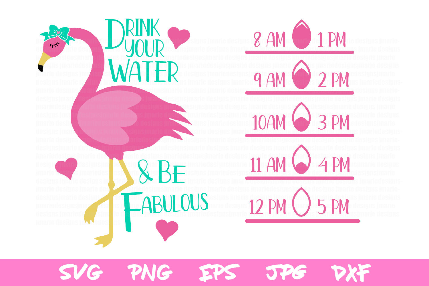 water bottle svg, drink your water, silhouette, sublimation example image 2