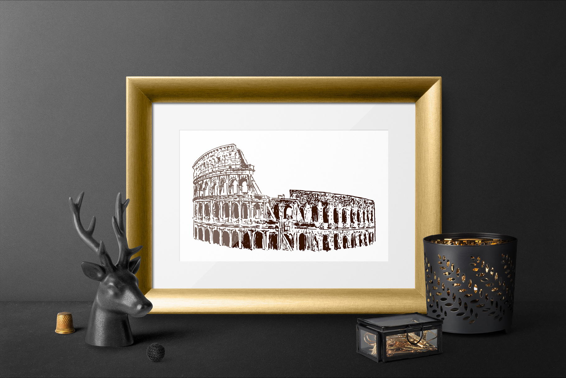 Set of Rome sketches example image 2