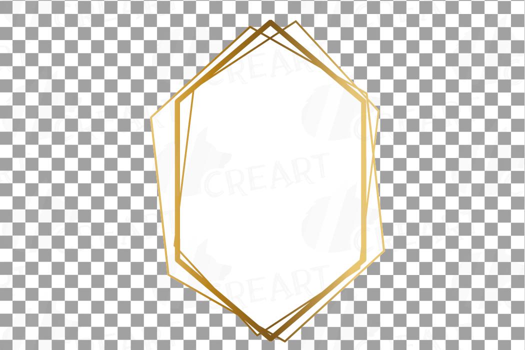 Elegant wedding geometric golden frames, lineal frames png example image 25