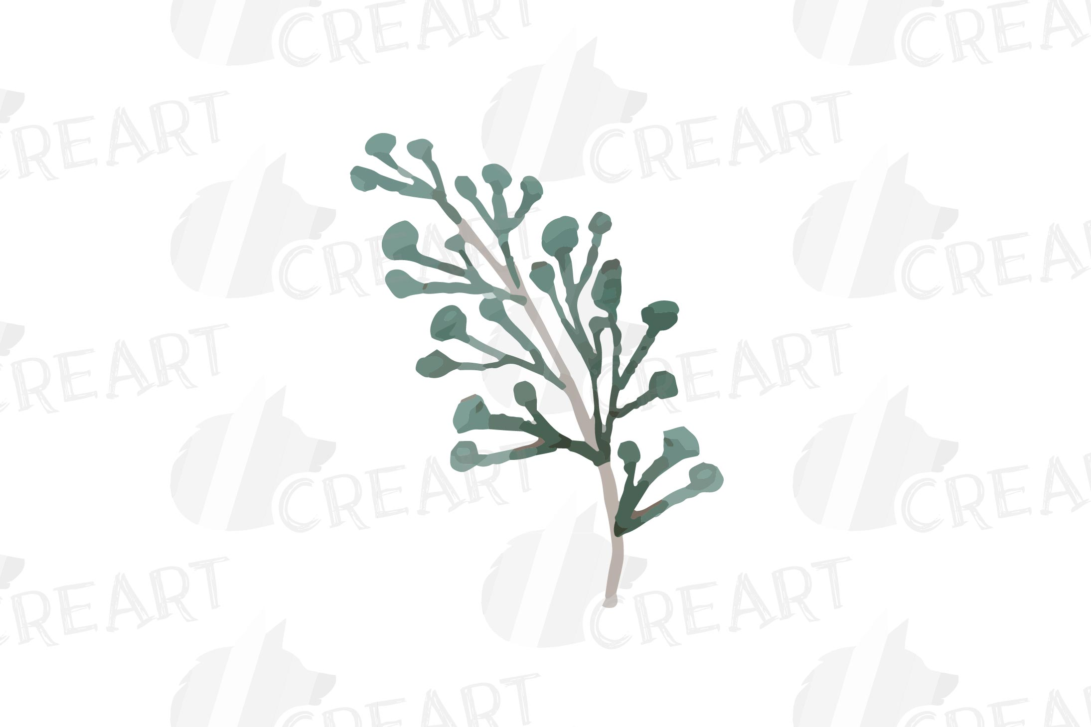 Cotton bolls and fir branch leafy autumn and winter decor example image 12