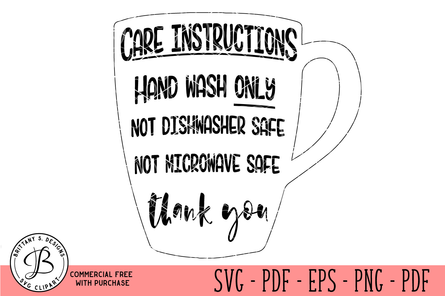 Care Card Instruction SVG, Care Card Bundle SVG example image 8