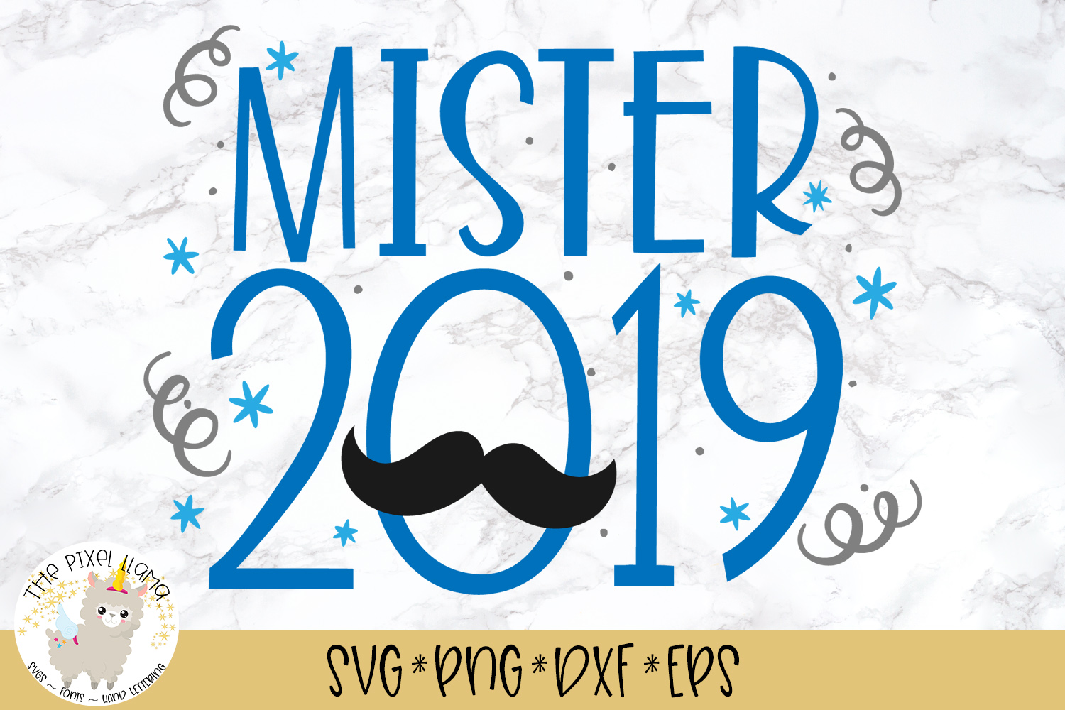 Mister 2019 SVG Cut File example image 1
