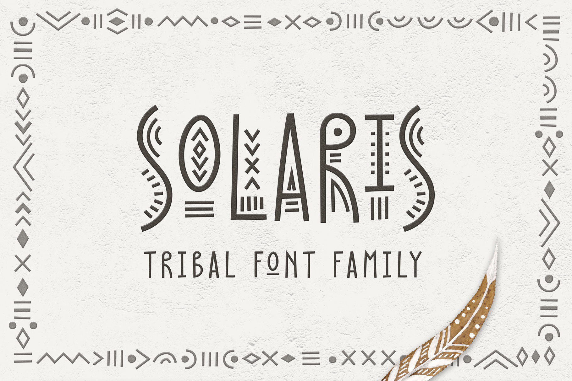 Thin Line Font Bundle 6 in 1 example image 6