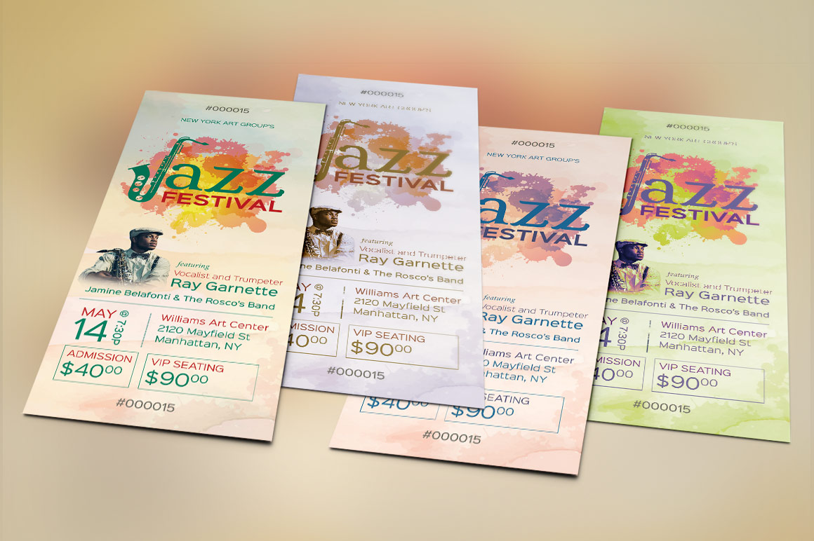 Jazz Event Ticket Template example image 4