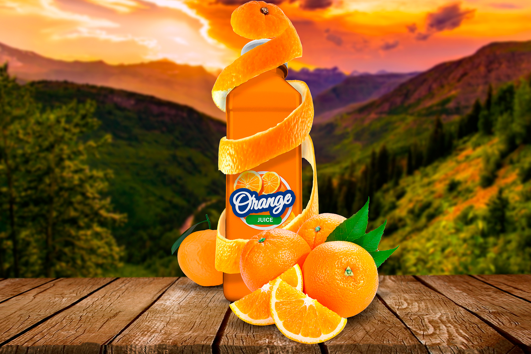Bottle Juice Mockup Advertising example image 5