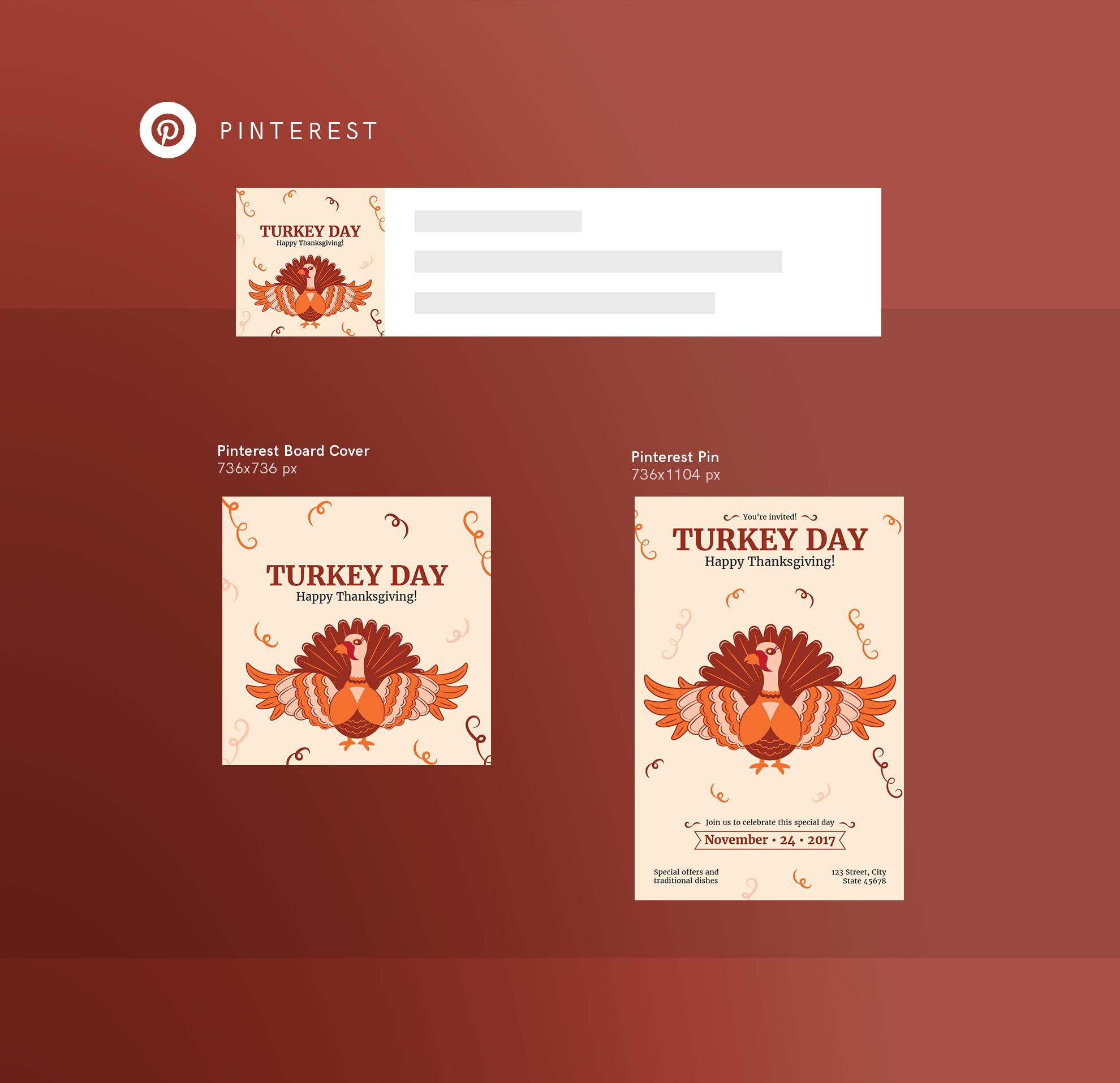 Thanksgiving Celebration Design Templates Bundle example image 11