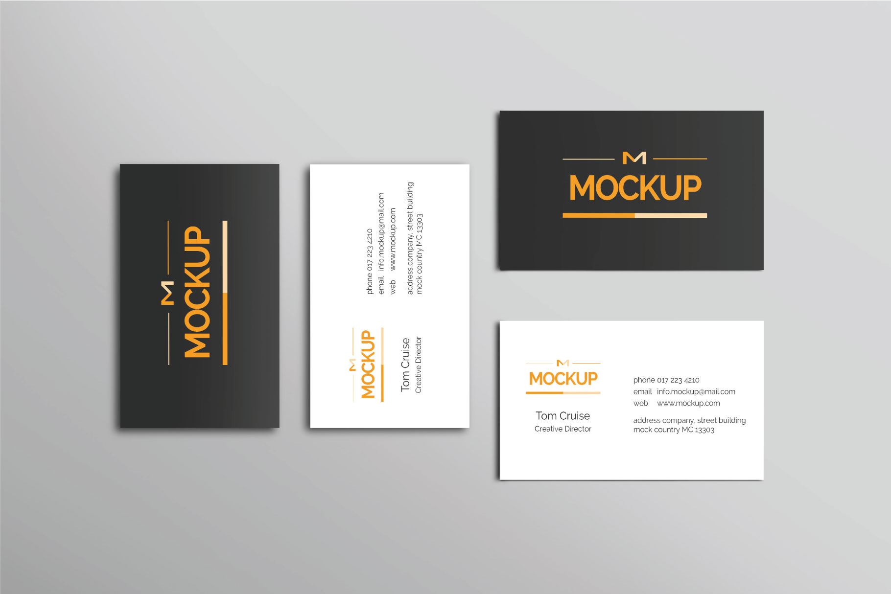 6 Style Business Card Mockups example image 7