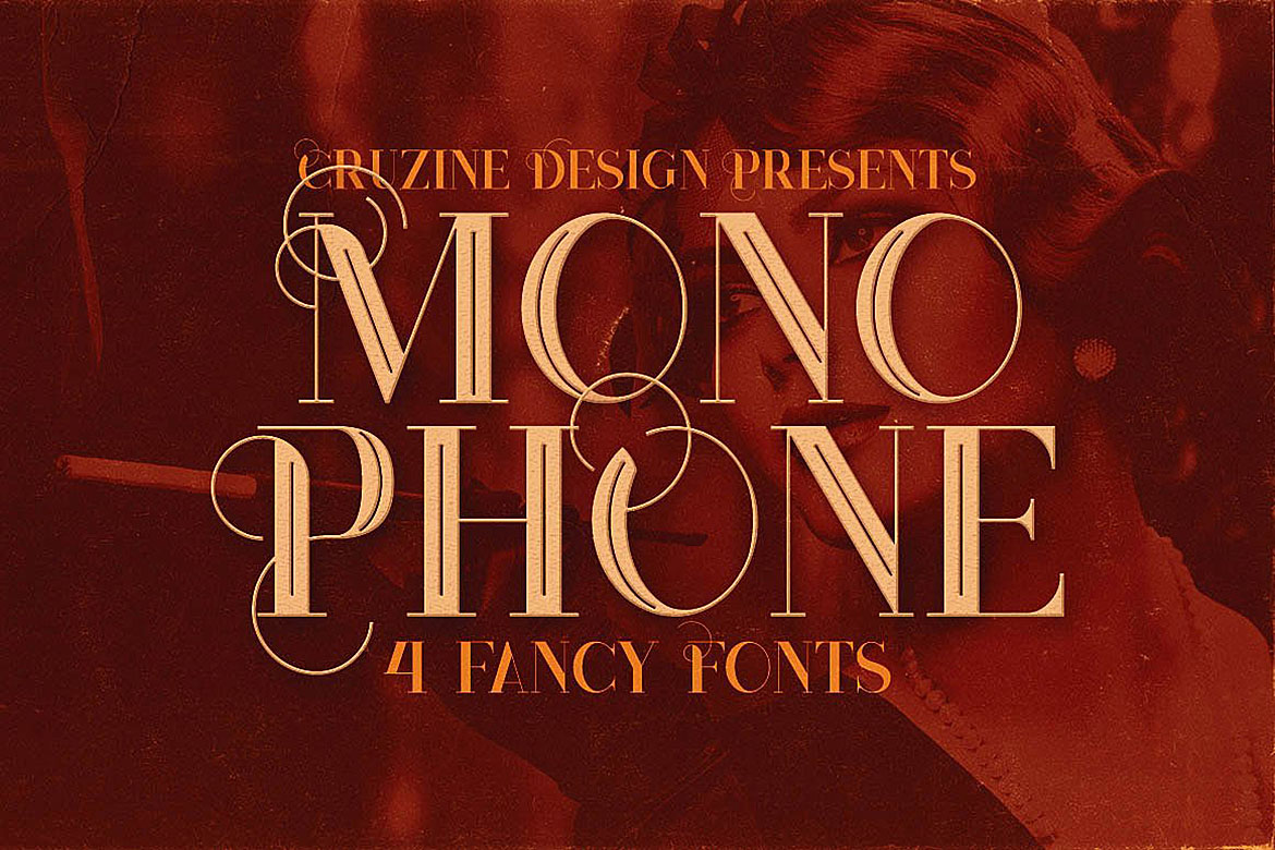 Monophone - Fancy Font example image 1