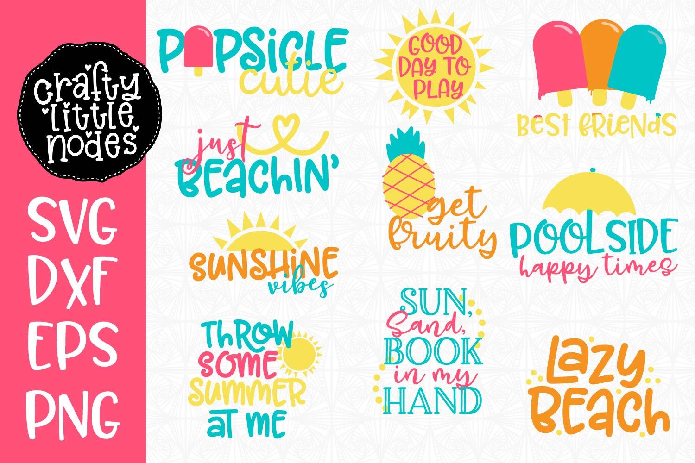 Summer Svg Bundle Of 13 Designs  – 144+ File for Free