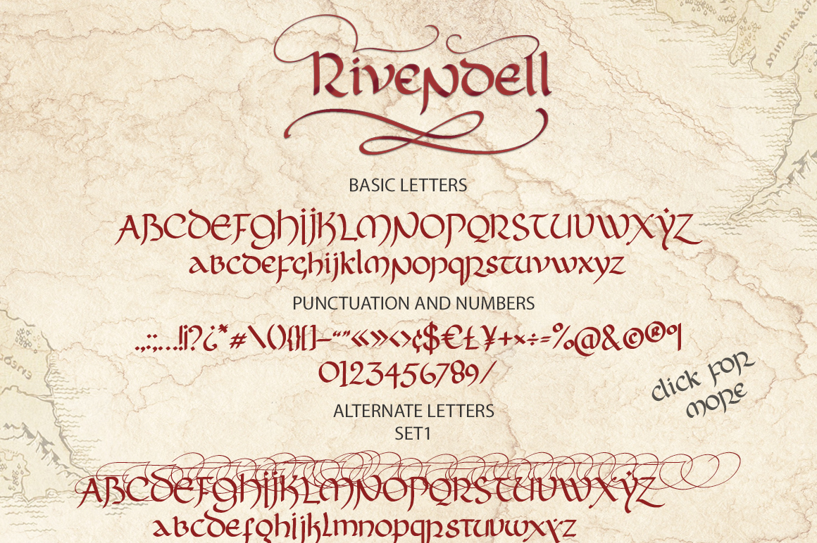 Rivendell. The full of magic font. example image 17