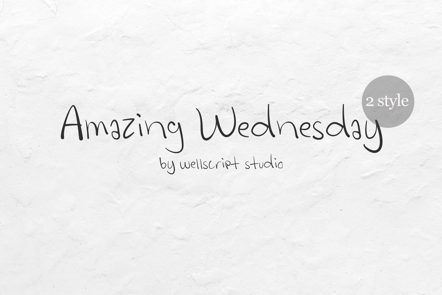 Amazing Wednesday - Handwritten Font example image 1