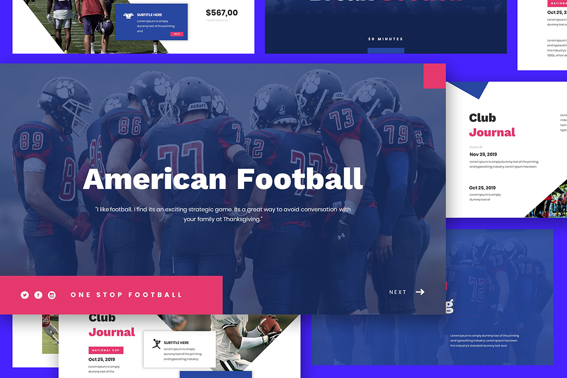 American Football Keynote Template example image 4