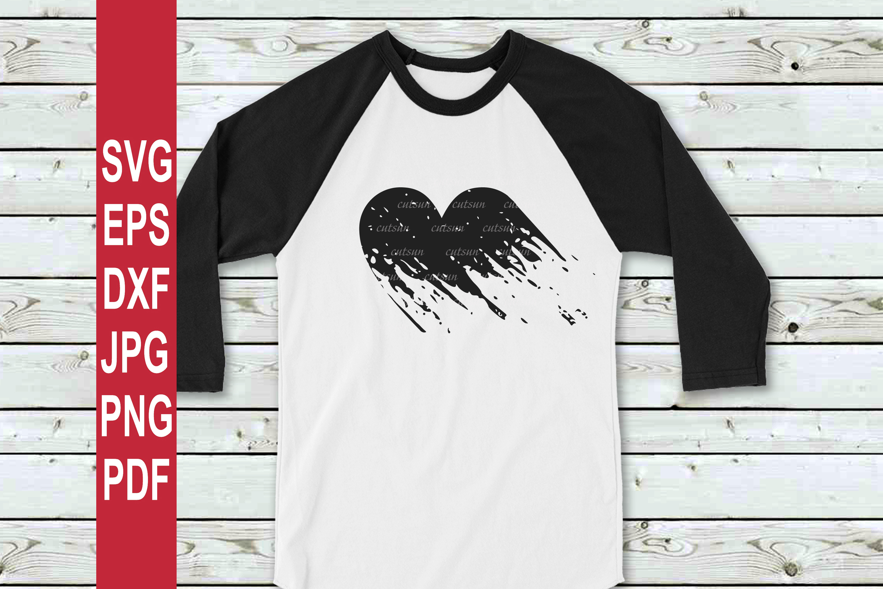 Valentine SVG | Grunge heart SVG | Distressed heart SVG example image 3