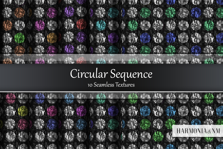 Circular Sequence 10 Seamless Textures example image 1