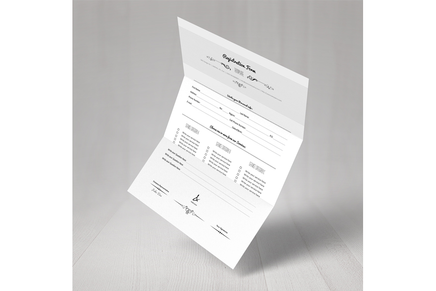 Registration Form Template v5 example image 6