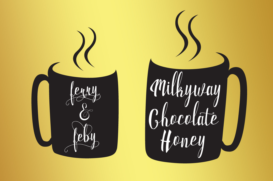 Milkytwins Modern Wave Calligraphy example image 4