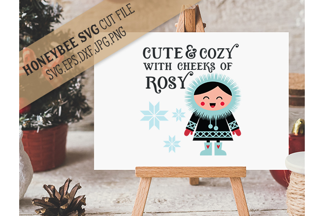Cute and Cozy Cheeks of Rosy svg  example image 1