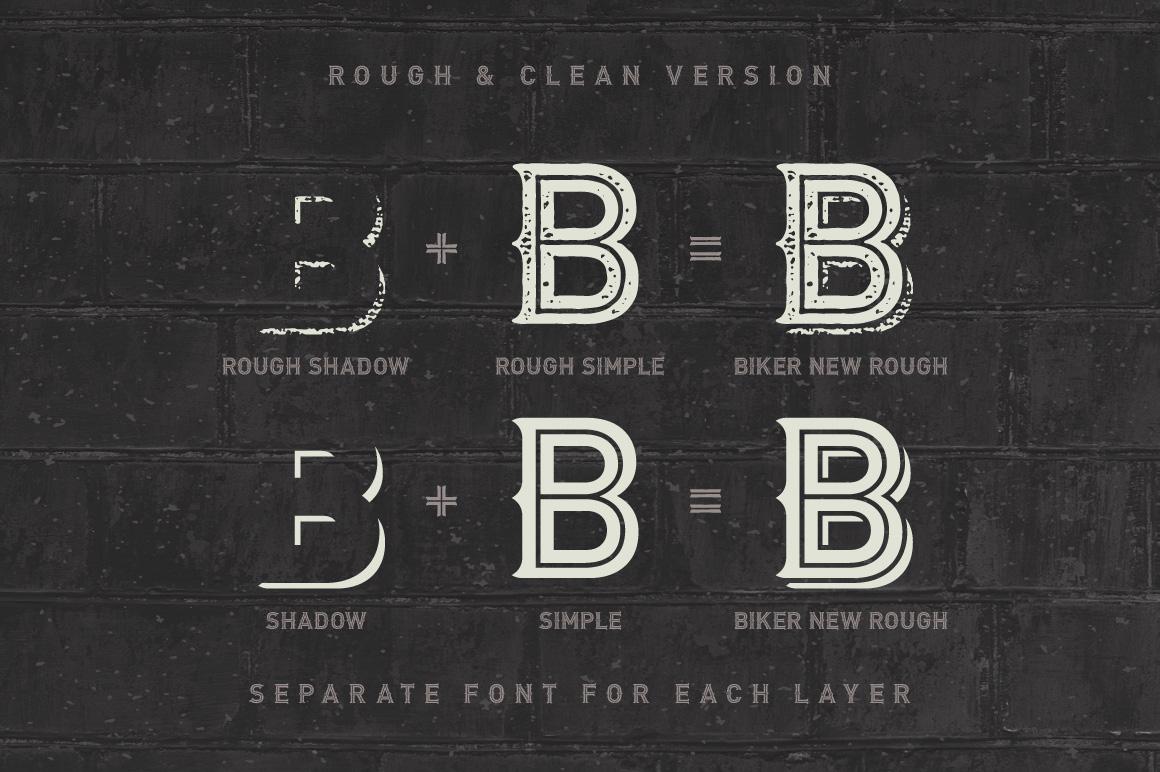 Biker Remastered font + graphics example image 3