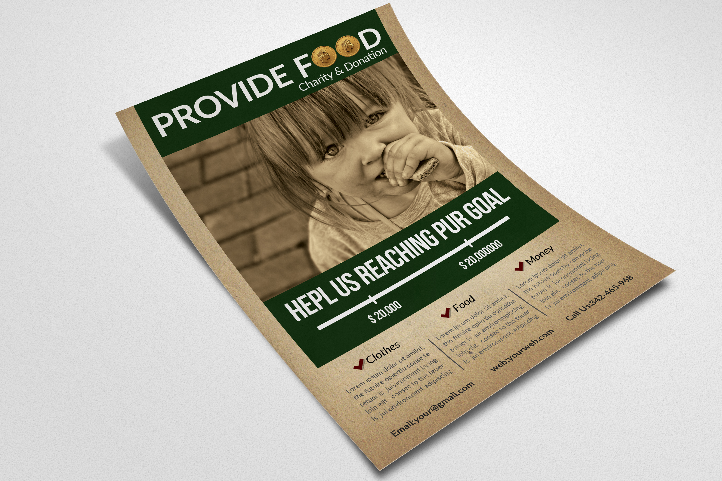 Charity & Fund Donation Flyer Templates example image 3